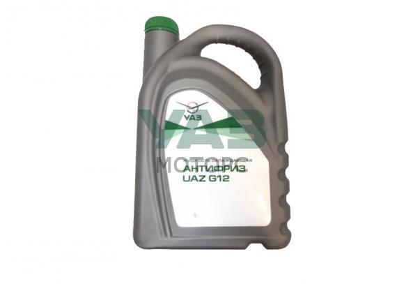 Антифриз 5 кг (зелёный / оригинальный) УАЗ G12 (ОАО УАЗ) 000000-4734017-00