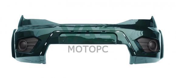 Бампер передний Уаз Патриот с 2015 года (AMM / зелёный металлик) (ОАО УАЗ) 3163-80-2803012-00
