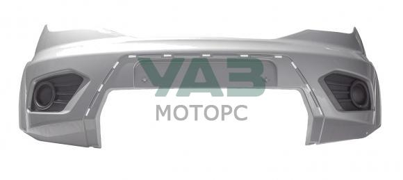 Бампер передний Уаз Патриот с 2015 года (голый / SEB / серебристый) (ОАО УАЗ) 3163-80-2803012-02