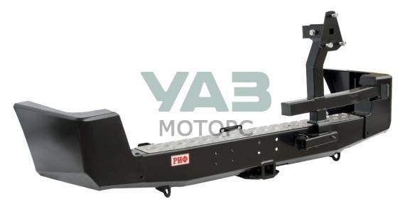 Бампер РИФ силовой задний (с квадратом под фаркоп / калитка / под парктроник / стандарт) Уаз Патриот (до 2014 года) RIF060-21120P