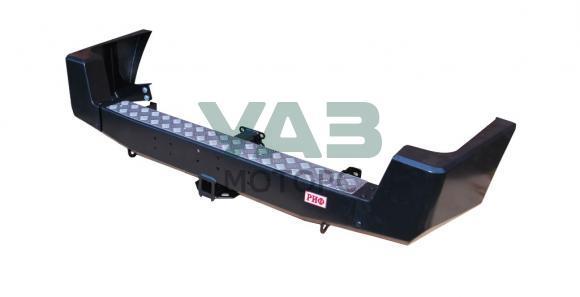 Бампер РИФ силовой задний (с квадратом под фаркоп / стандарт) Уаз Патриот (до 2014 года) RIF060-21200
