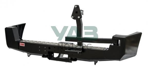Бампер РИФ силовой задний (с площадкой под лебедку / калиткой / лифт 65 мм) Уаз Патриот (до 2014 года) RIF060-22230