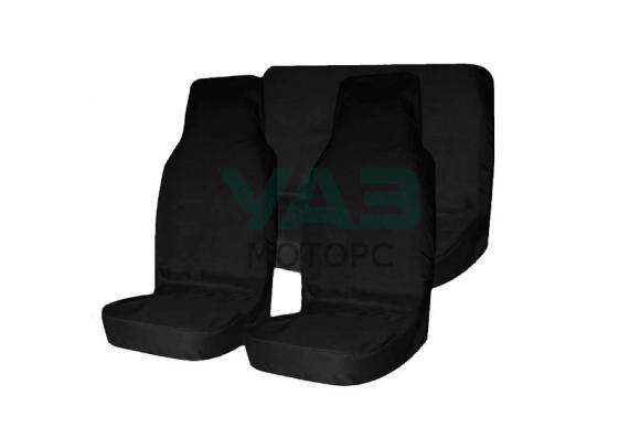 Чехлы на сидения (городской камуфляж / грязезащитные / универсальные / комплект передние и задние) (Уаз Моторс)