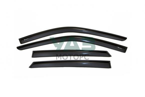 Дефлекторы на окна (комплект 4 штуки / литьевой поликарбонат) Уаз Хантер (Vinguru / AVF31303) 3159-8212002-00