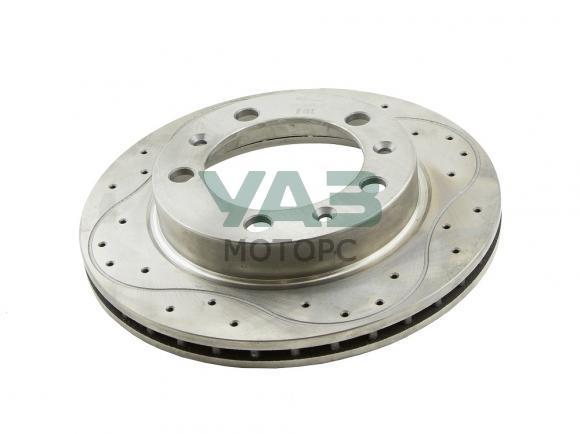 Диск тормозной передний УАЗ (перфорированный вентилируемый) (RedBTR 550350) 3160-00-3501076-02
