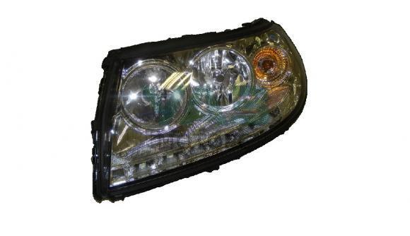 Фара Уаз Патриот левая в сборе (с ДХО) (Automotive Lighting Рязань) 3163-00-3711011-10