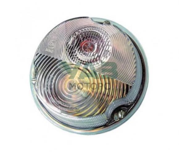 Фонарь передний (белый / светодиод и лампа) Уаз 469, Хантер, Буханка ПФ130А (Skv Lighting) 3741-00-3712010-00