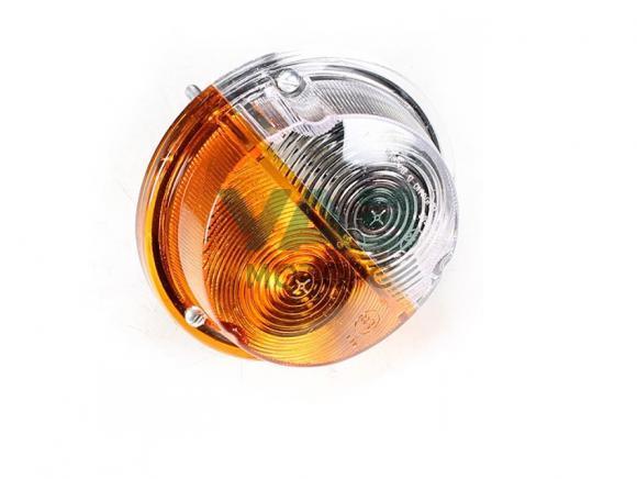 Фонарь передний (жёлто-белый / светодиод и лампа) Уаз 469, Хантер, Буханка ПФ130А (Skv Lighting) 3741-00-3712010-00