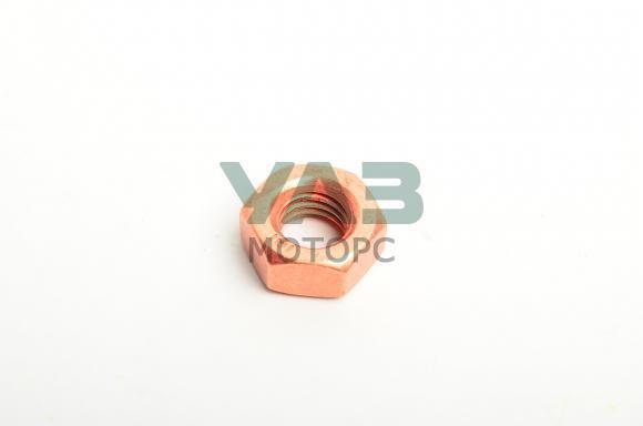 Гайка М10x1.5x12 крепления приемной трубы к выпускному коллектру Уаз (медное напыление) (Автометиз НН 250536-П) 0000-00-0250536-00