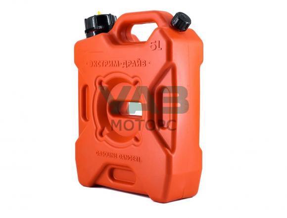 Канистра экспедиционная 5 литров (Экстрим Драйв Плюс / 2 горловины / красная) (Технохим) kan-EXDn-5L-RD