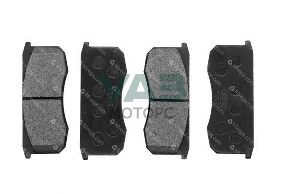 Колодки тормозные передние УАЗ комплект 4 штуки (Tanaki) 3160-3501090