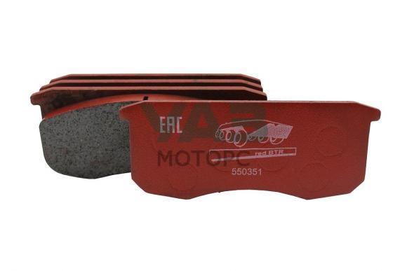Колодки тормозные передние Уаз (керамические, бесшумные) (redBTR 550351) 3160-00-3501090-00