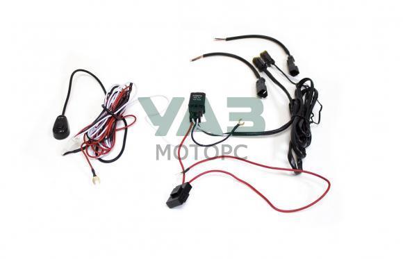 Комплект проводки для подключения 2х дополнительных LED-фар (с кнопкой / реле 40А) (redBTR) 804030