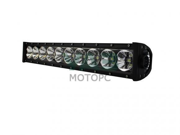 Лайт-бар светодиодный (балка) redBTR серия PRO комбо 120W (12W*10), 1-рядный 53 см, IP69