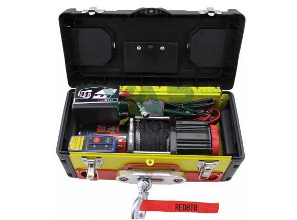 Лебедка redBTR переносная в ящике 3500 lbs (3174 кг), синтетический трос