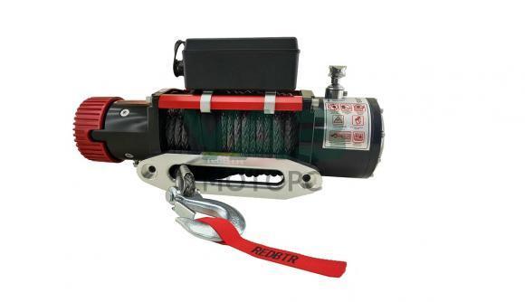 Лебедка redBTR серия Hunter 12000lb (12V, 5448 кг, редуктор 265:1) с синтетическим тросом