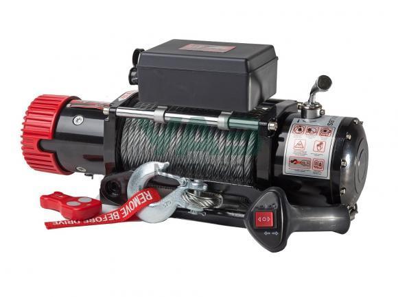 Лебедка redBTR серия Hunter 9500lb, (12V, 4310 кг, редуктор 265:1) с чугунным клюзом