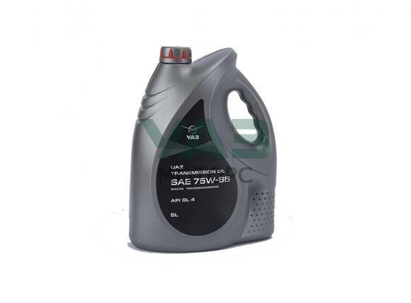 Масло трансмиссионное Уаз 75W85 GL-4 (5 литров) (ОАО УАЗ) 0000-00-4734022-01