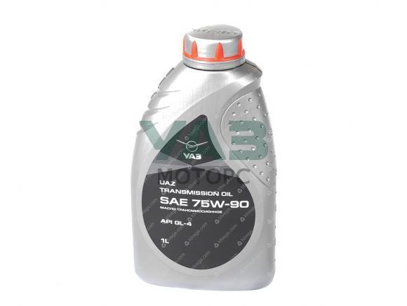 Масло трансмиссионное Уаз SAE 75W90 API GL-4 (1 литр) (ОАО УАЗ) 0000-00-4734008-00
