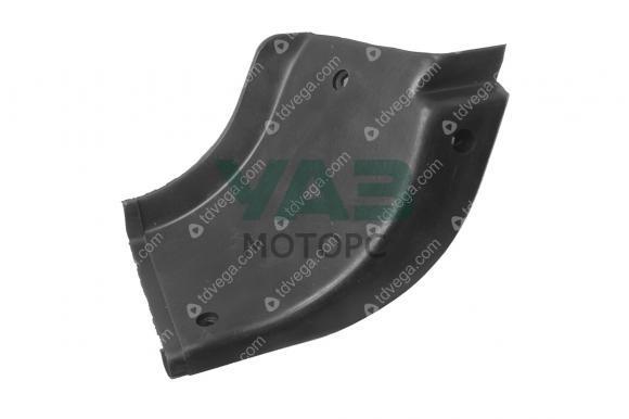 Накладка подножки (задняя левая / угловая / резина) Уаз 3162, Патриот (ОАО УАЗ) 3160-8405593