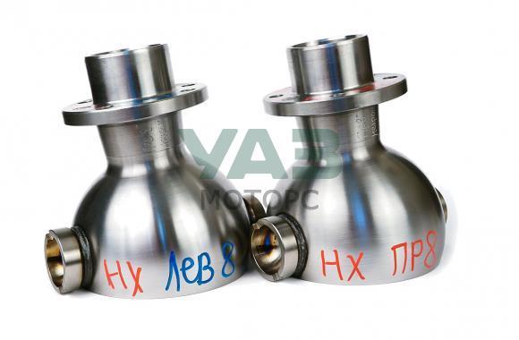 Опора шаровая (ШОПК) усиленная не хромированная, кастор +8 (комплект 2 штуки / мост Спайсер, Тимкен гибрид) (Ваксойл / Бийск) 3162-00-2304012-10