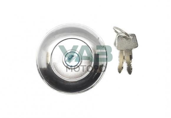 Пробка бака с ключом (хром) Уаз 452 (БУханка) (широкая горловина) (Ульяновск) 0452-00-1103010-01