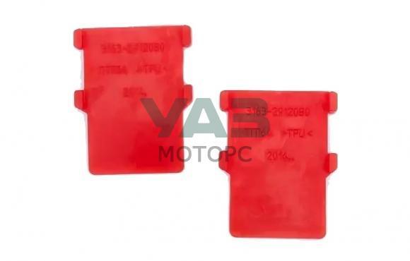 Прокладка рессоры межлистовая (антискрип) (полиуретан / комплект 2 штуки) (Rosteco) 3163-2912080