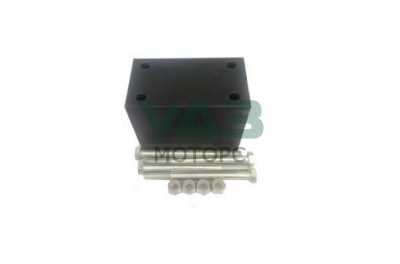 Проставка рессора-рама 40 мм (капролон / болты, гайки) (Алком)