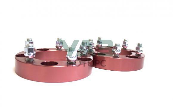 Проставки колесные красные (комплект 2 штуки) redBTR 5x139.7 (центральное отверстие 108 мм / толщина 31,75 мм / 14x1.5) (redBTR / 741810)