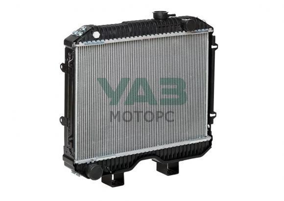 Радиатор охлаждения (2х рядный / алюминиевый) ЗМЗ 409, УМЗ 4213 (Патриот без кондиционера) (ШААЗ Шадринск) 3160-80-1301010-02