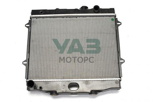Радиатор охлаждения (2х рядный / алюминиевый) ЗМЗ 409, УМЗ 4213 (Патриот без кондиционера / универсальный) (Стамос / Иран / U0031608-AL) 3160-80-1301010