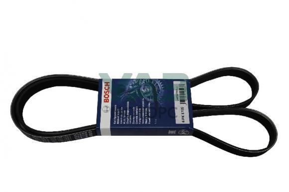 Ремень 6PK1705 привода компрессора кондиционера Уаз Патриот (ЗМЗ-51432 Евро 4) (Bosch / Германия / 1 987 947 989) 31638-1308020-11