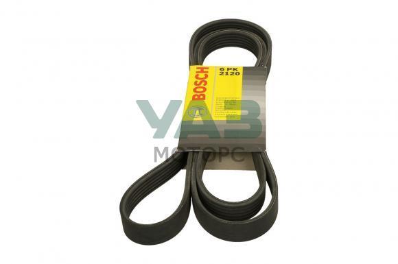 Ремень привода агрегатов (6рк2120) Уаз Патриот, Пикап, Профи (с кондиционером) (Bosch 1 987 947 821) 3163-00-1308020-33