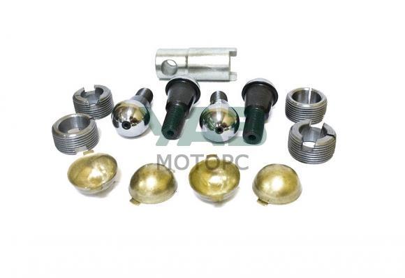 Ремкомплект шкворневого узла (мост спайсер, тимкен гибридный / нового образца) (вкладыши, шкворни, шкворневой ключ) (ExpertDetal) 3162-00-2304019-04