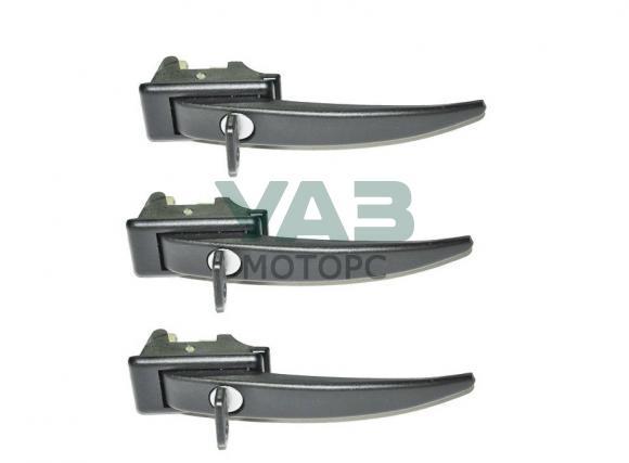 Ручки дверные наружные (комплект 3 штуки с ключом) Уаз Буханка (Riginal RG452-6105149) 3741-6105151