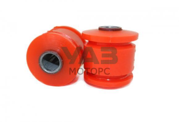 Шарнир продольной штанги полиуретан (сайлентблок / без внешней обоймы / комплект 2 штуки) Уаз 3160, 31519, 3163 (RedBTR) 3160-2909020