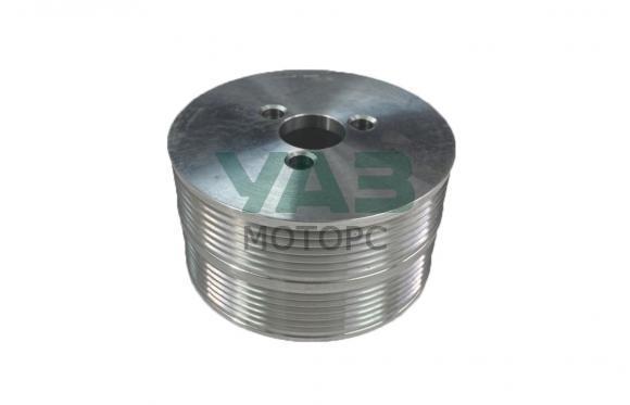 Шкив (помпы) водяного насоса (алюминиевый / d=108 мм / стандарт / двойной) ЗМЗ 409, 514 (ООО РУСМАШ) 514.1308025-20