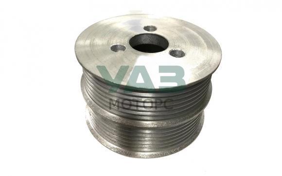 Шкив (помпы) водяного насоса (алюминиевый / d=88 мм уменьшеный диаметр / двойной) ЗМЗ 409, 514 (ООО РУСМАШ) 514.1308025-20