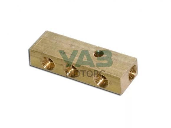 Соединитель тормозных трубок (центральный / 5 отверстий / штуцер 12 мм) (ООО Техноальянс) 0469-00-3506398-00