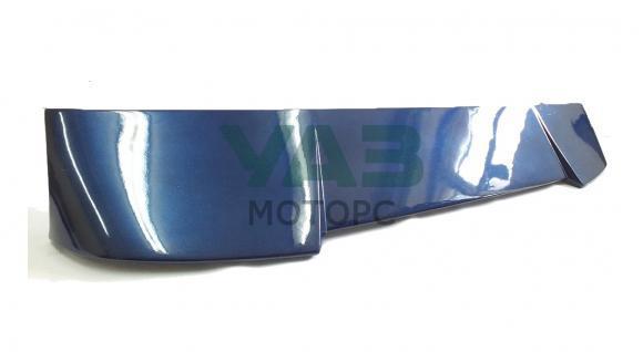 Спойлер (тёмно-синий металлик / ОКМ) непродувной RS-спорт УАЗ Патриот (Инмакс) SUP-01 O/М