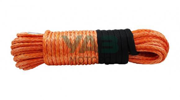 Трос для лебедки синтетический (оранжевый) с коушем (10 мм х 28 м / 9 тонн) (RedBTR / 899010)