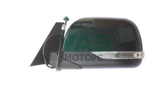 Зеркало наружное левое (электропривод / обогрев / повторитель поворота) Уаз Патриот, Пикап (с 2015 года) (цвет AMM тёмно-зелёный металлик) (ИНТЕХ Обнинск) 3163-00-8201071-00