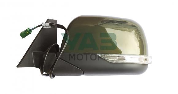 Зеркало наружное левое (электропривод / обогрев / повторитель поворота) Уаз Патриот, Пикап (с 2015 года) (цвет ЗЛМ / зелёный металлик) (ИНТЕХ Обнинск) 3163-8201071