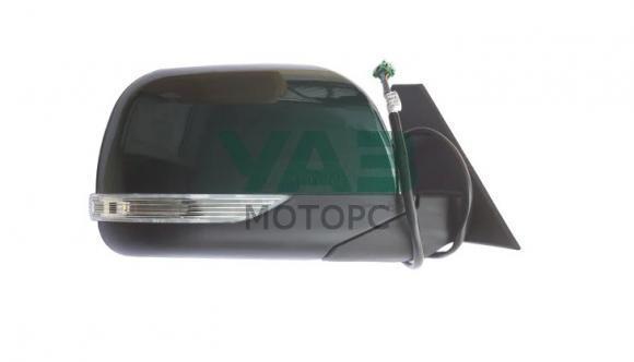 Зеркало наружное правое (электропривод / обогрев / повторитель поворота) Уаз Патриот, Пикап (с 2015 года) (цвет AMM тёмно-зелёный металлик) (ИНТЕХ Обнинск) 3163-00-8201070-00