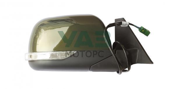 Зеркало наружное правое (электропривод / обогрев / повторитель поворота) Уаз Патриот, Пикап (с 2015 года) (цвет ЗЛМ зелёный металлик) (ИНТЕХ Обнинск) 3163-00-8201070-00
