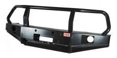 Бампер РИФ силовой передний (с ПТФ / защитной дугой / под парктроники) Уаз Патриот (RIF060-10350P)