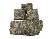 Чехлы на сидения (серый камуфляж цифра / грязезащитные / универсальные / комплект передние и задние) (Уаз Моторс)