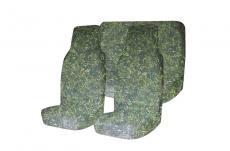 Чехлы на сидения (зелёный камуфляж цифра / грязезащитные / универсальные / комплект передние и задние) (Уаз Моторс)