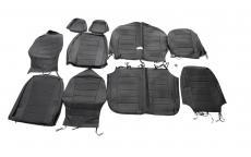 Чехлы на сиденья Уаз Хантер (черная экокожа) (ОАО УАЗ) 3151-4735001