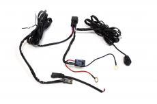 Комплект проводки для подключения 1 дополнительной LED-фары (с кнопкой / реле 40А) (redBTR) 804010